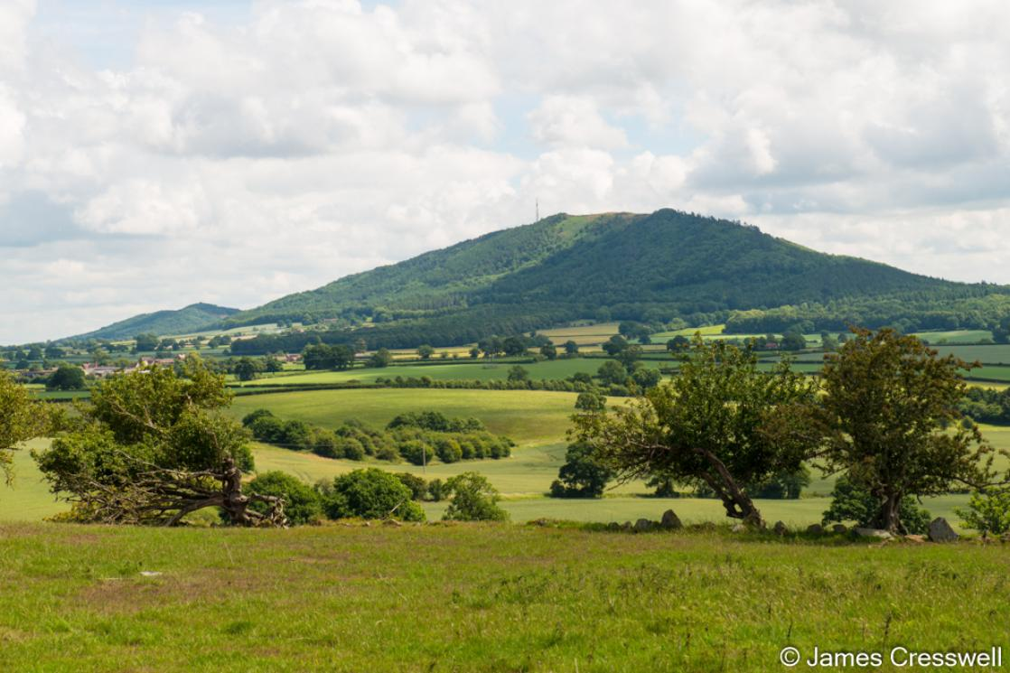 A photograph of the Wrekin, seen on a GeoWorld Travel England geology trip, tour and holiday
