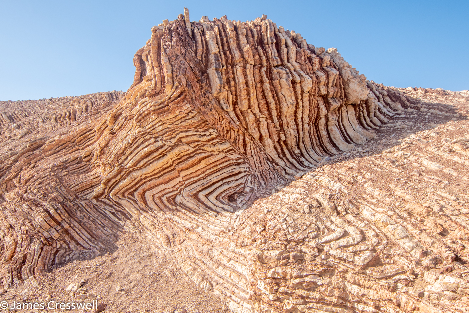A photograph of the Mother of all Outcrops taken on a GeoWorld Travel Oman geology trip, tour and holiday