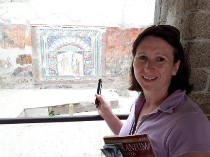 Abby Hunt Archaeologist GeoWorld Travel at Herculaneum