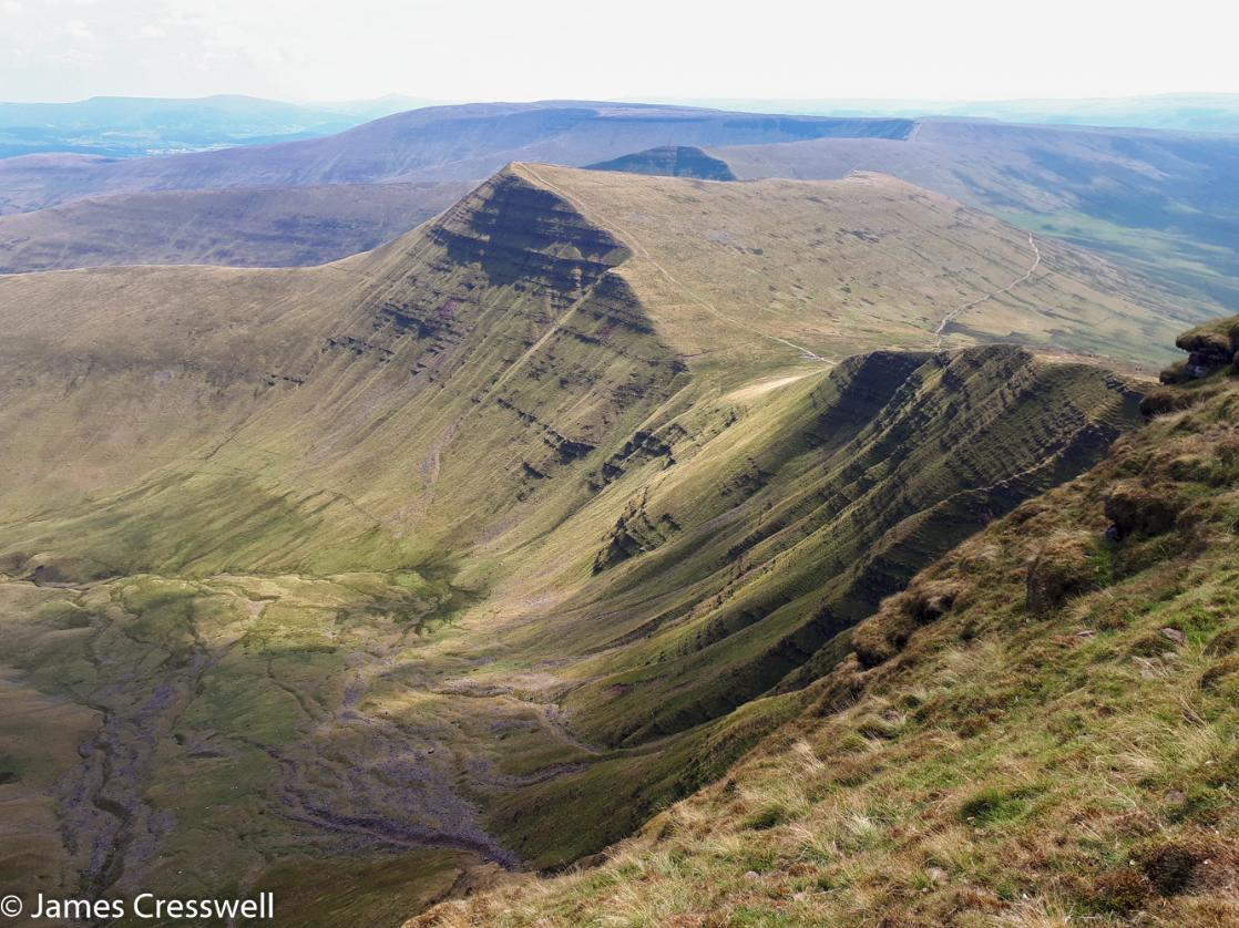 A photograph of the Brecon Beacons Mountains, taken on a GeoWorld Travel Wales geology day tour