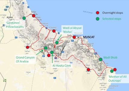 Oman route map GeoWorld Travel