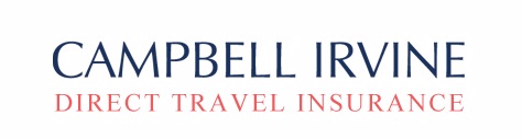 A logo of Campbell Irvine Travel Insurance