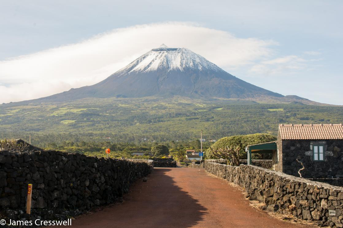 A photograph of Pico volcano, taken on a GeoWorld Travel Azores geology and volcano trip, tour and holiday
