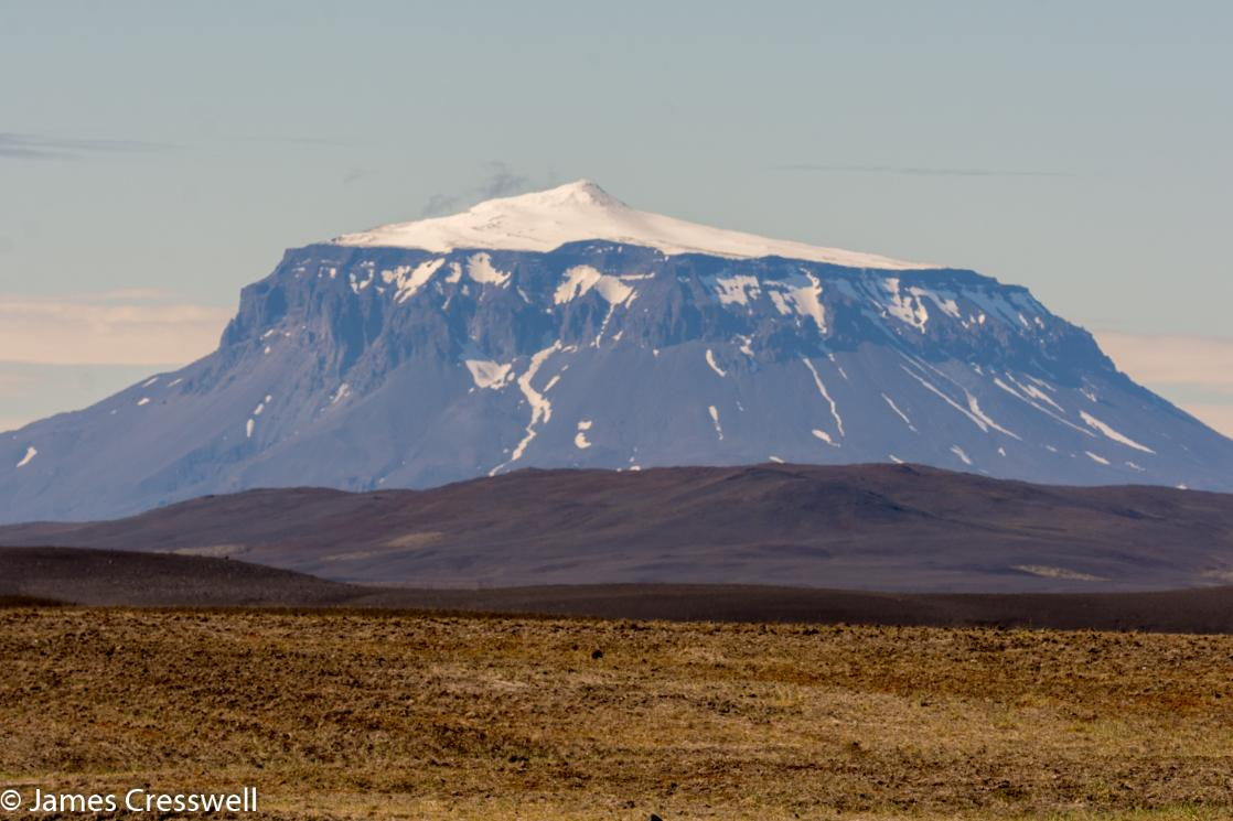 A photograph of Herdubreid volcano, the Queen of Iceland's mountains, taken on a GeoWorld Travel volcano trip, tour and holiday