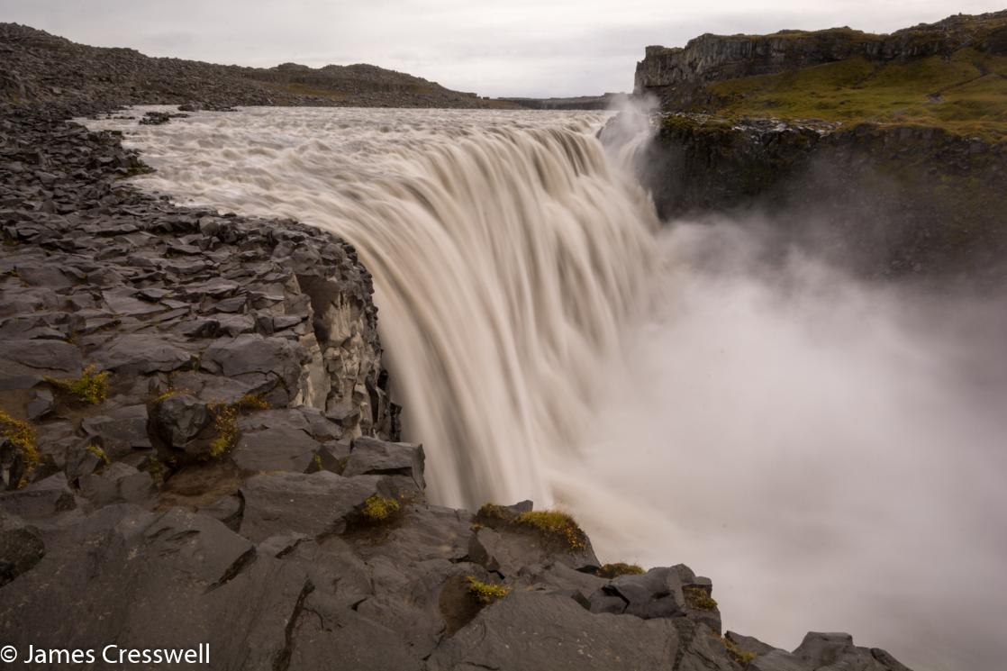 A photpgraph of Dettifoss waterfall in Iceland, taken on a GeoWorld Travel waterfall trip, tour and holiday