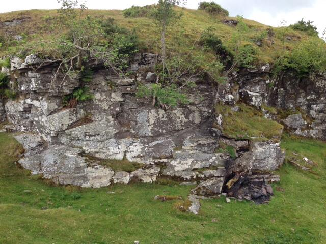 Fossilised Devonian river channel, Fforest Fawr Geopark, GeoWorld Travel geology field trip
