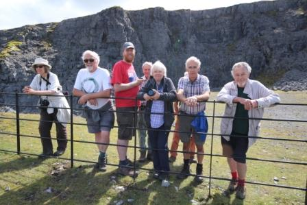 Hay U3A at Herbert's Quarry, GeoWorld Travel geology field trip