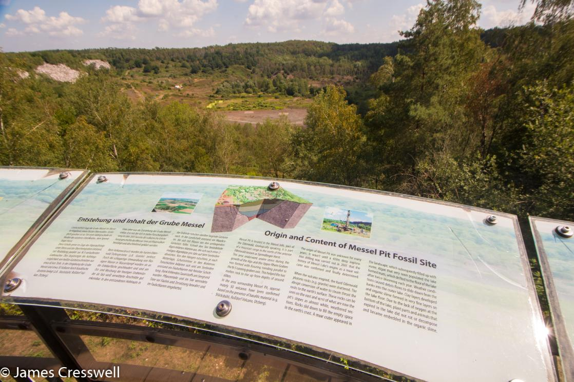 The Messel Pit World Heritage Site, taken on a GeoWorld Travel Germany geology and fossil trip, tour and holiday